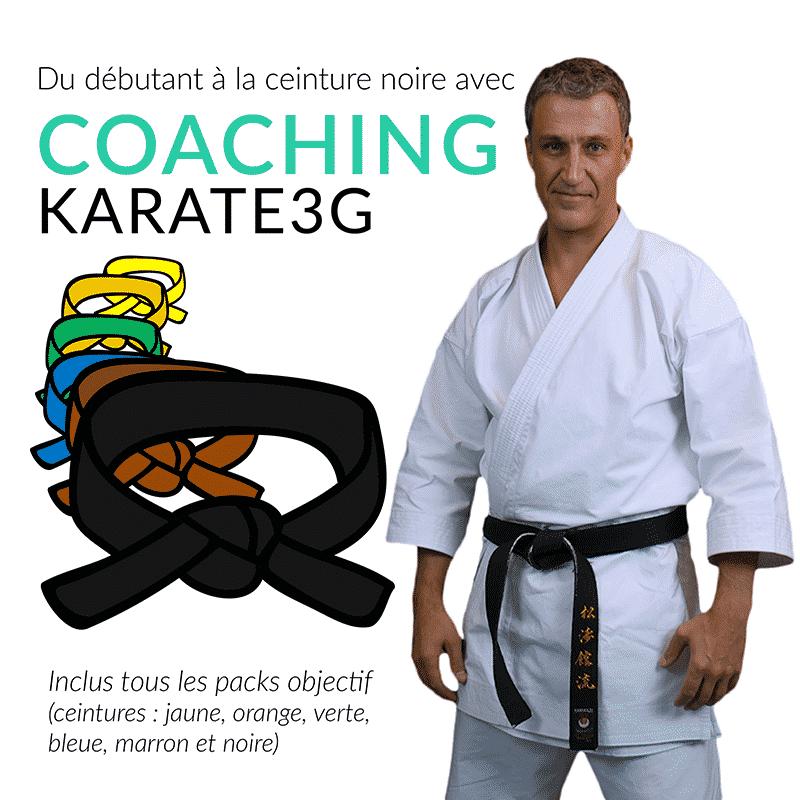 Coaching Karate3G de la ceinture blanche à la ceinture noire   Karate3G 91ea4a17826