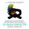 Pack objectif Karate3G de la ceinture blanche à la ceinture noire
